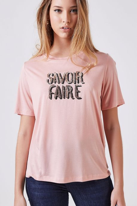 Tee Savoir Fair Rose Rose Champagne - P