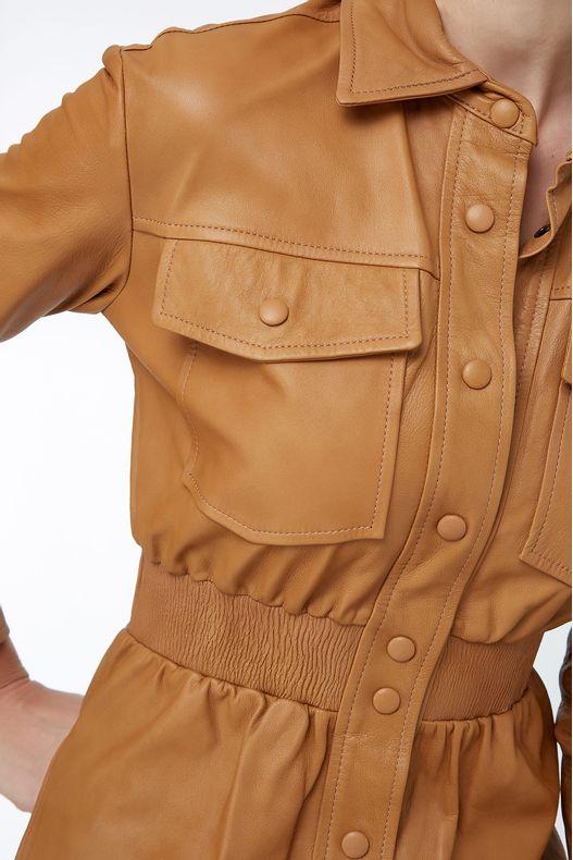 11ace28ac Camisa Couro Jacket Bolso Namibia - Animale